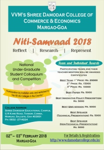 'Niti-Samvaad 2018' @ VVM's Shree Damodar College of Commerce & Economics | Margao | Goa | India
